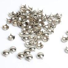 Saco rebite de couro para unhas, bolsa redonda de 10mm para pulseiras, braceletes de couro, bolsa de rebite, roupas de costura, 100 peças rebite