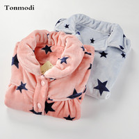 Autumn And Winter Flannel Sleepwear Women S Thickening Thermal Lounge Plus Size Loose Set Coral Fleece