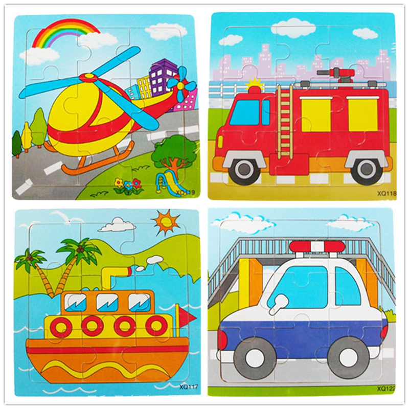 Retail Educational Wooden Jigsaw Police fire vehicle Puzzles Toys Kids Games Toy For Children Cartoon Learning Education Toys wooden 3d puzzle jigsaw wooden toys for children cartoon animal puzzles intelligence kids children educational toy toys