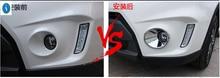 Интимные аксессуары для Suzuki Vitara 2015 2016 2017 Chrome ABS спереди глава Туман свет лампы под давлением гарнир Обложка отделка 2 предмета