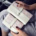 2016 verão nova impressão da carteira bolsa doce saco de mão em relevo moda Bolsa Carteira estilo simples flor decoração frete grátis