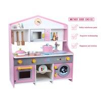 Новый детский подарок Деревянные игрушки японский кухня Моделирование кухня детская игровой дом