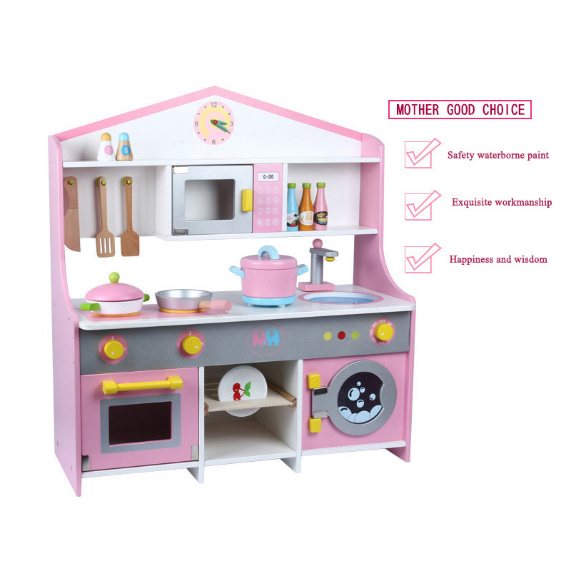 US $150.8 |New children\'s gift Wooden Toys Japanese kitchen simulation  kitchen Children\'s play house-in Kitchen Toys from Toys & Hobbies on  AliExpress