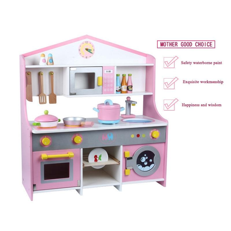 New Children's Gift Wooden Toys Japanese Kitchen Simulation Kitchen Children's Play House