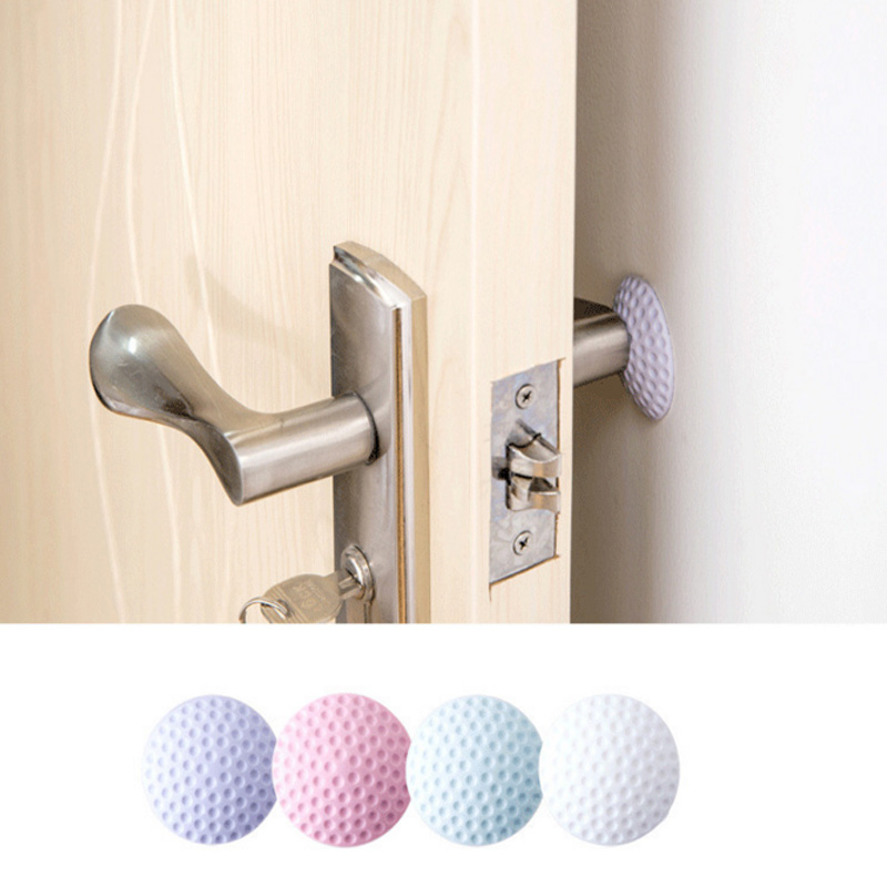 1Pcs Golf Rubber Silicone Door Handle Knob Crash Pad Wall Protectors Buffer Anti-collision Doorknob Lock Crash Pads HG0377