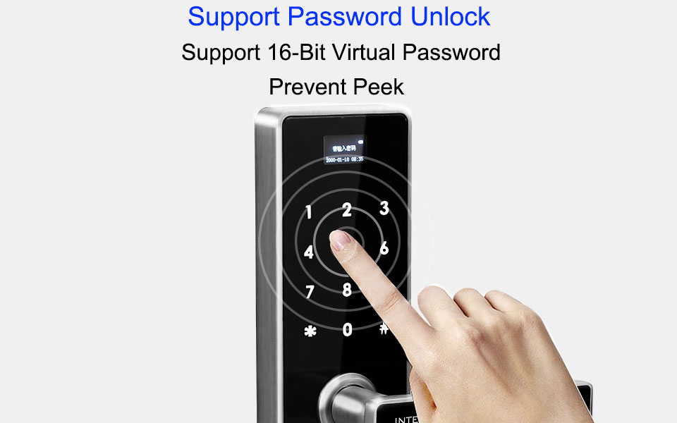 Smart Lock Digital Electronic Lock Door Safe Smart Door Locks Fingerprint Door Lock Fingerprint With Password &RFID Unlock