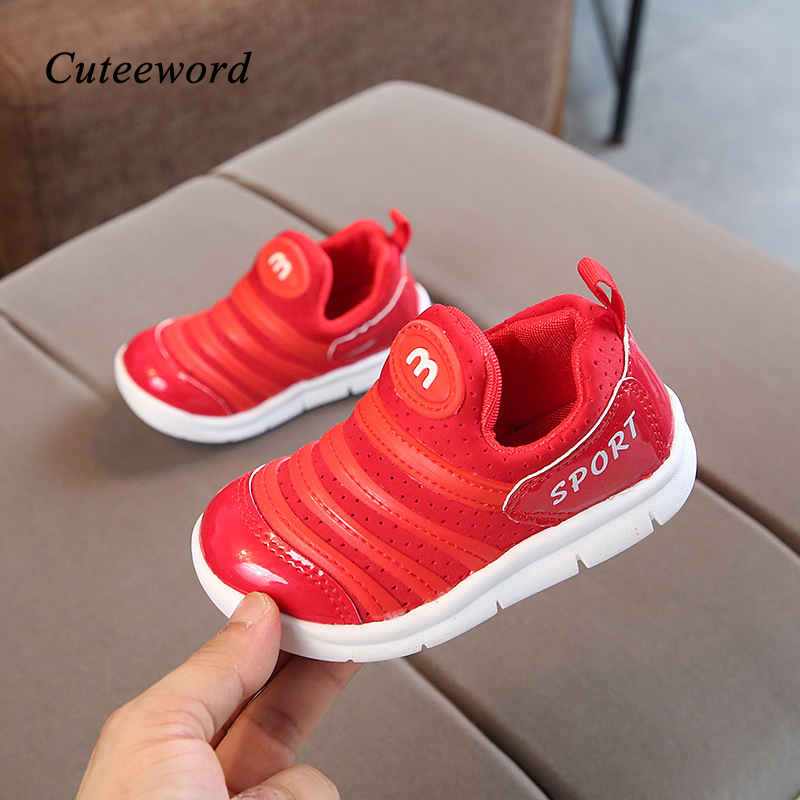 Boy kids shoes school casual shoes for girls sneakers 2019 autumn child soft bottom leather mesh breathable boys running shoes in Sneakers from Mother Kids
