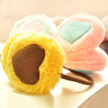 HQ New Women Colorful  Heart Embroidery Plush Fluffy Warm Earmuffs Girls Earlap Winter Outdoor Patchwork Warm Earmuffs FHJ487