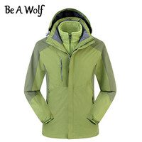 Be A Wolf Hiking Jacket Men Women Outdoor Camping Ski Hunting Clothes Fishing Winter Heated Waterproof