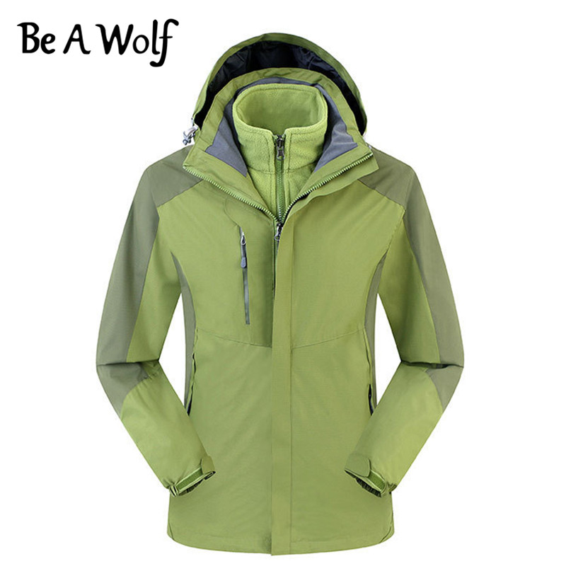 Heated Hunting Clothes >> Us 47 52 49 Off Be A Wolf Hiking Jacket Men Women Outdoor Camping Ski Hunting Clothes Fishing Winter Heated Waterproof Windbreaker Jacket 8001 In