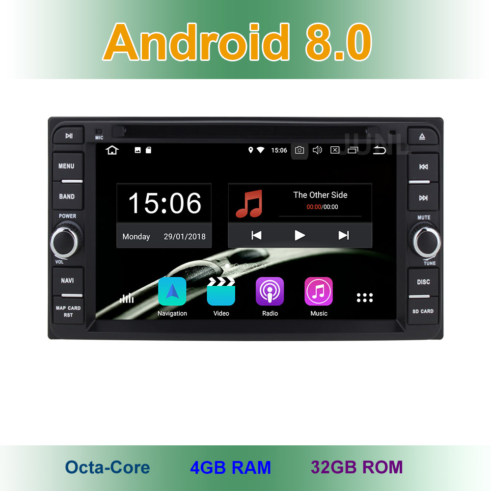 Android 8.0 Car DVD Video Player for Toyota Terios Old Corolla Camry Prado RAV4 Universal with Radio WiFi Bluetooth GPS