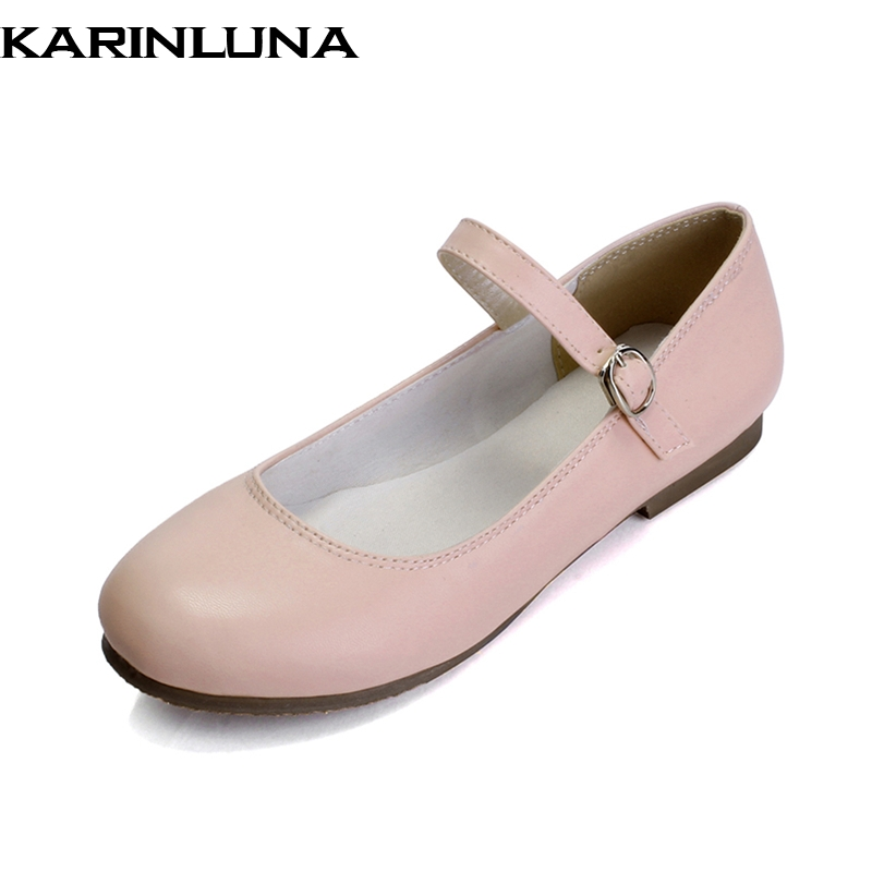 KARINLUNA On Sale Big Size 30-43 Sweet Mary Janes Flats Comfortable Flats Shoes Women Soft Comfort Shoes Footwear Woman fashion women shoes woman flats high quality comfortable pointed toe rubber women sweet flats hot sale shoes size 35 40