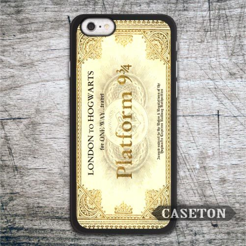 Hogwarts Express Train Ticket Harry Potter Case For iPhone 7 6 6s Plus 5 5s SE 5c 4 4s and For iPod 5 Classic Lovely Phone Cases