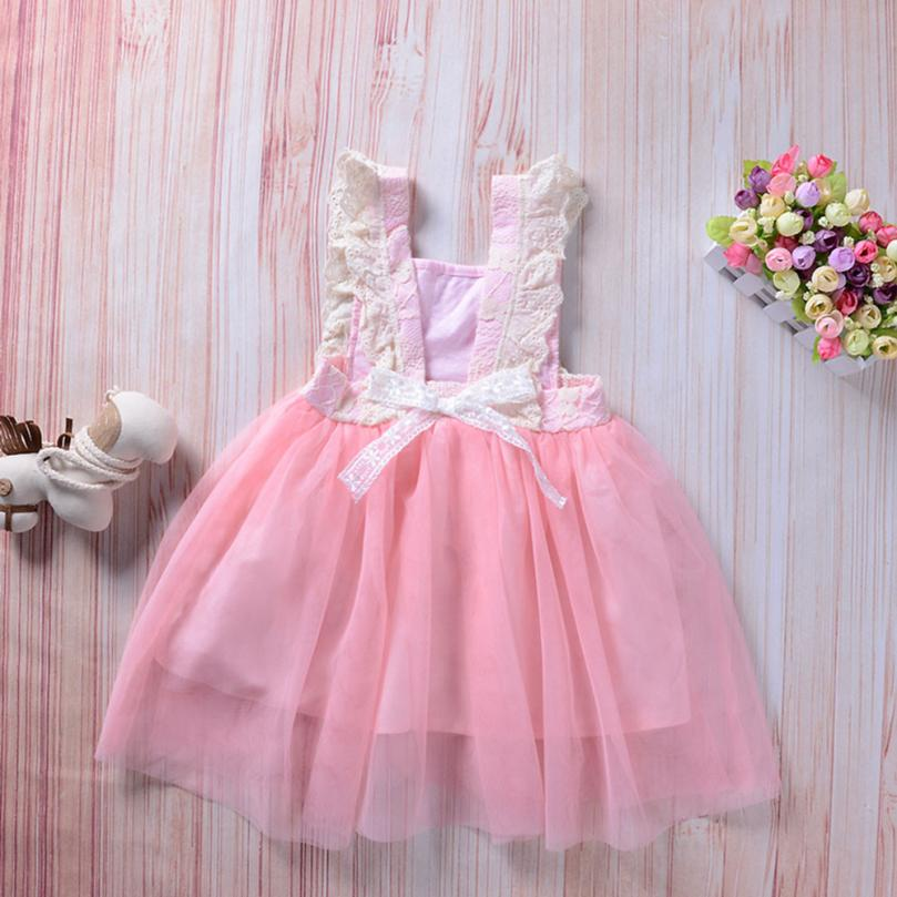 TELOTUNY Toddler Baby Gils Sleeveless Lace Splice Dress Princess Party Sundress Clothes For Girls Dress JAN18 ...