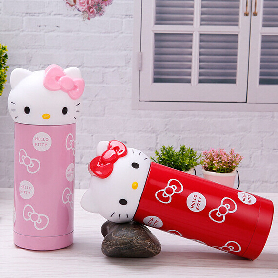 Hello Kitty Childrens Cups Cute Stainless Steel Mugs Advertising Promotional Gifts Cup Customized Best Christmas Gifts For Kids