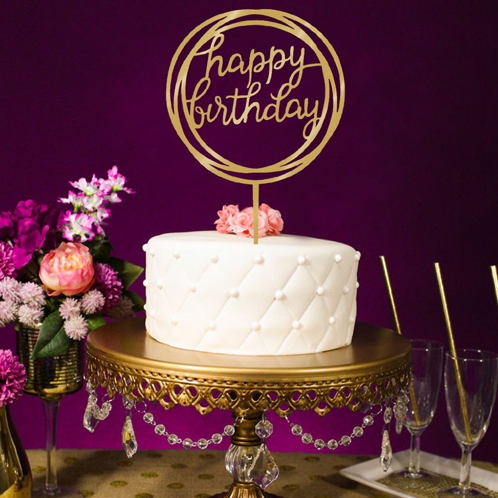 Hot Sale Cake Wedding Happy Birthday Cake Topper Card ...