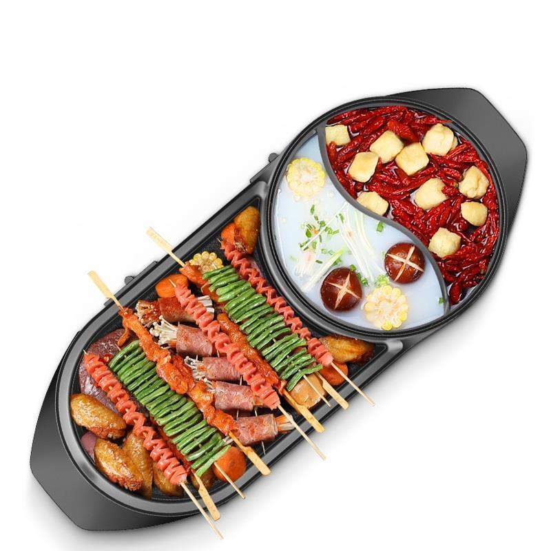 Kebab Churrasqueira Eletrica portatif en fonte Mini Parrilla Camping Mangal Barbacoa pour Barbecue en plein air Barbecue Grill-in Grilles de barbecue from Maison & Animalerie    1