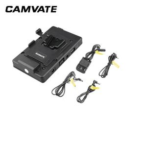 Image 4 - CAMVATE 카메라 비디오 V 잠금 배터리 플레이트 퀵 릴리스 마운팅 플레이트 키트 15mm로드 클램프 DSLR 카메라 지원 시스템