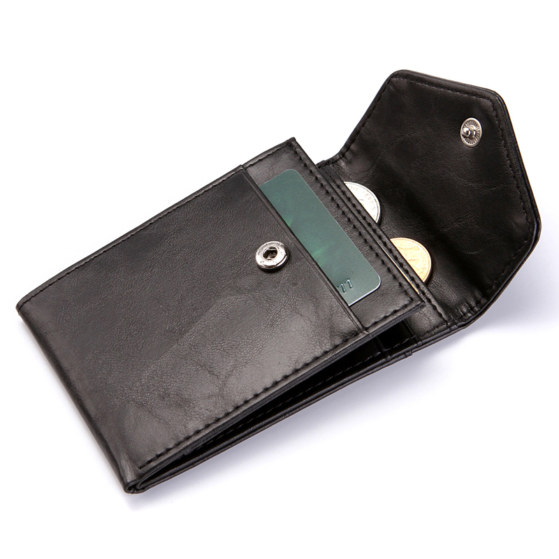 Couro do plutônio dos homens mini carteira rfid carteiras finas com moeda bolso titular do cartão de crédito bolsa famosa portefeuille homem mágico carteira