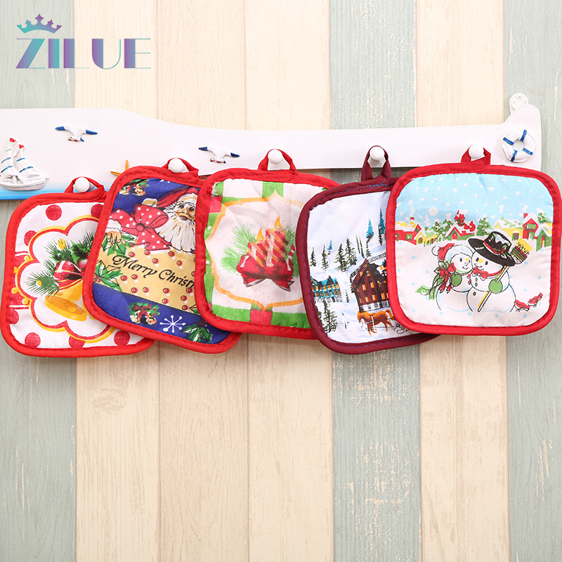 Home Decor Suppliers: Zilue Christmas Festival Baking Glove Insulation Pad Gift