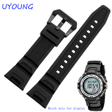 New Black Silicone Rubber waterproof Strap for Casio sgw-100 watchbands Smart watches