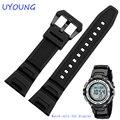 Novas pulseiras de relógio preto pulseira de borracha de silicone à prova d' água para casio sgw-100 relógios inteligentes acessórios pulseira pulseira