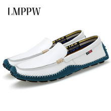 Купить с кэшбэком Men Loafers Genuine Leather Men Shoes Leather Men's Casual Shoes Fashion Breathable Men Loafers Driving Shoes Soft Moccasins 2A
