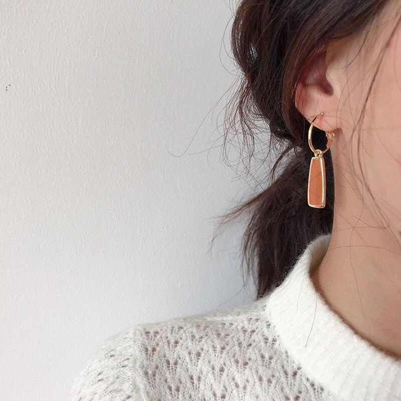 Geometry retro circle pendant earrings jewelry fashion woman earrings Statement earring for Girls gift for woman 4