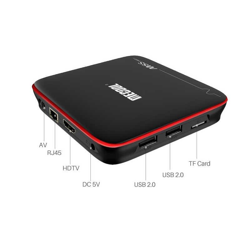 Mecool M8S Pro W Android 7.1 Smart TV Box 2G RAM 16G ROM Amlogic S905W Mendukung 2.4G Hz WIFI 4K H.265 HD Media Player