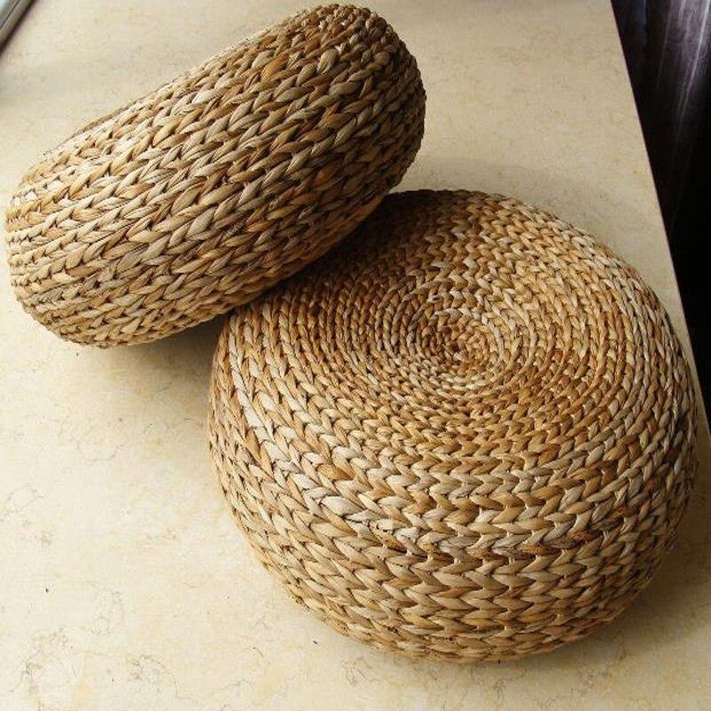 tapis de yoga traditionnel tabouret d pouf en rotin naturel avec coussin de meditation tabouret en rotin naturel meubles en rotin tabourets en