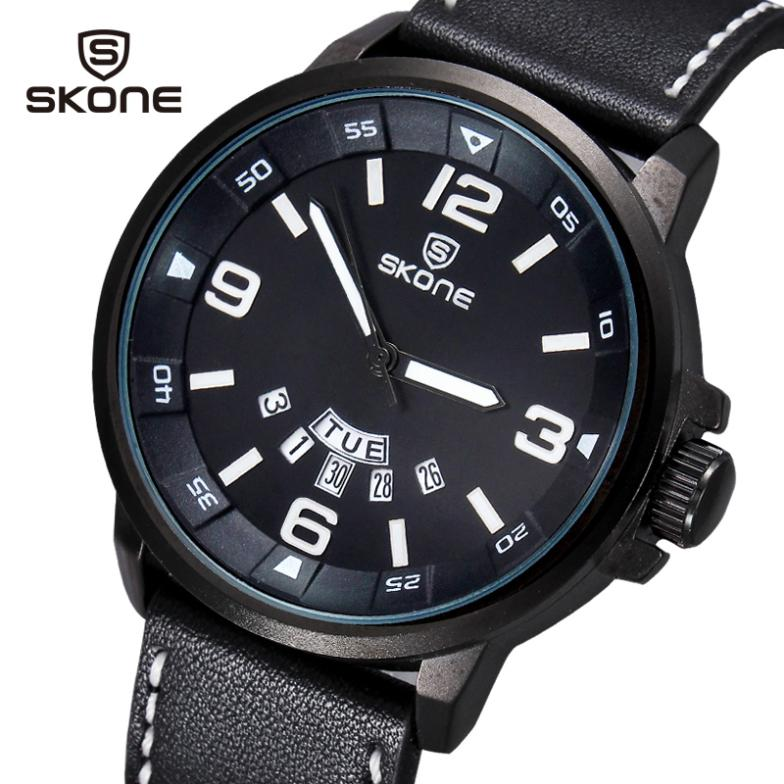2016 New Arrival Luxury Brand Leather Watch Men Luminous Watch Date Calender Japan Quartz Movement Men