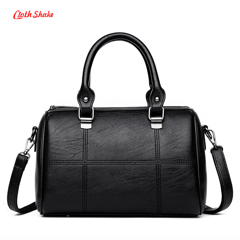 Women Messenger Bags Ladies Shoulder Bags PU Leather Handbags Large Capacity Crossbody Bag Female Fashion Patchwork Tote Bags zency new women genuine leather shoulder bag female long strap crossbody messenger tote bags handbags ladies satchel for girls