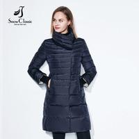 SnowClassic зимняя куртка женщин свободный шарф Тонкие пальто Женские теплые парки толстые Outwear мягкие био вниз Мягкие штаны Длинные куртки