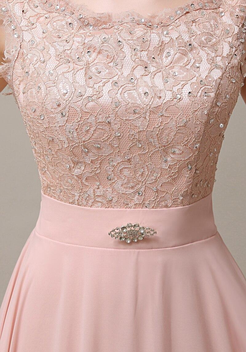 2771931ffd 2016 blush pink long lace modest cheap high waist bridesmaid dress ...