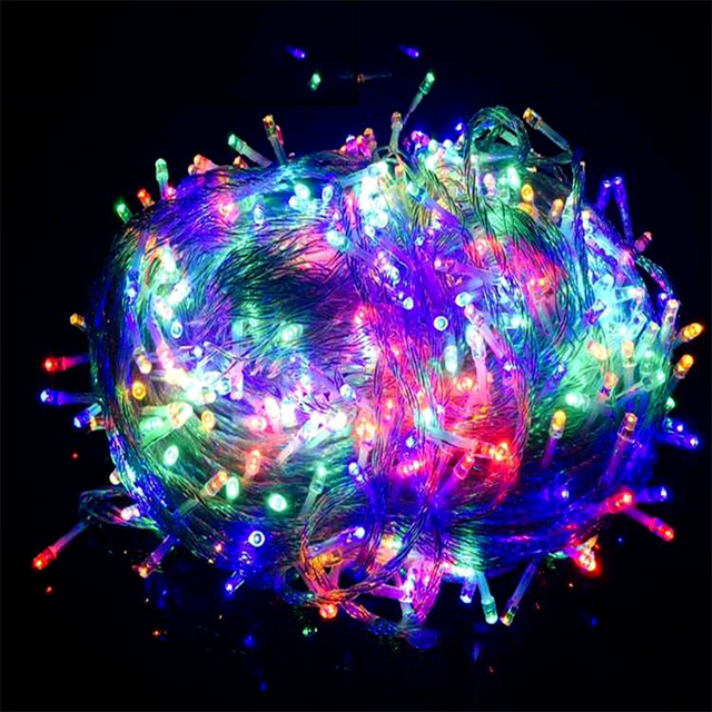 10m 100m 220v led string light christmas tree lights outdoor 10m 100m 220v led string light christmas tree lights outdoor waterproof decoration faily lamp for mozeypictures Choice Image