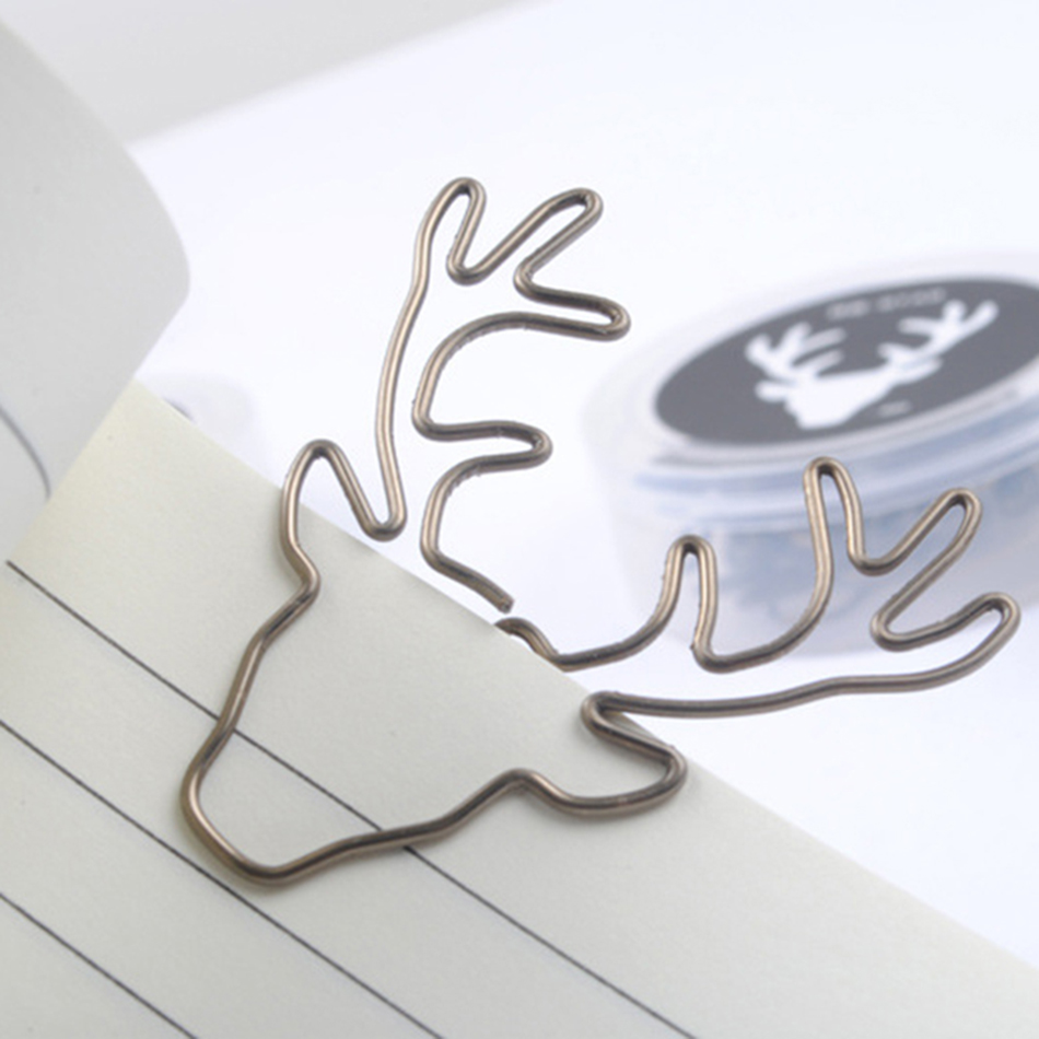 Sale New Paperclip 8pcs/lot Vintage Deer Clip Paper Clips Bookmark Pin Stationery Office Accessories Memo Free Shipping
