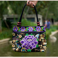 Brand Design Women Bag National Trend Embroidery Double Faced Floral Handmade Handbag Ladies Casual Tote Shoulder Canvas Bags