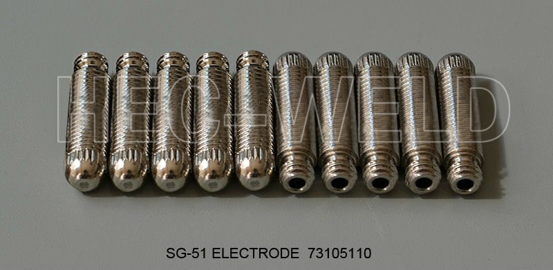 Tools : 100pcs SG51 Consumables 50 tps 50 electrodes  for 60a inverter DC Air Plasma Cutter Accessories for SG51 cutting torch gun