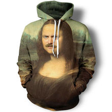 unny 3D Printing Imitate Mona Lisa Photo Graphic Character Jimmy Hoodies Hiphop Hat Sweatshirt Men Pullover Unisex Tops Jackets