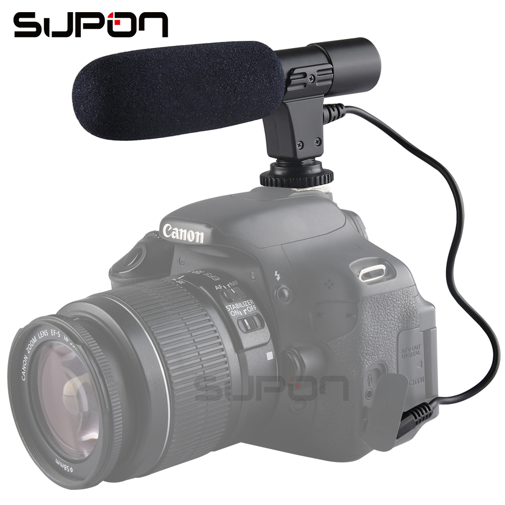SUPON New MIC-01 DV Recording Stereo Microphone Mic For all 3.5mm hot shoe DSLR universal Canon Nikon Sony Olympus Pentax Camera