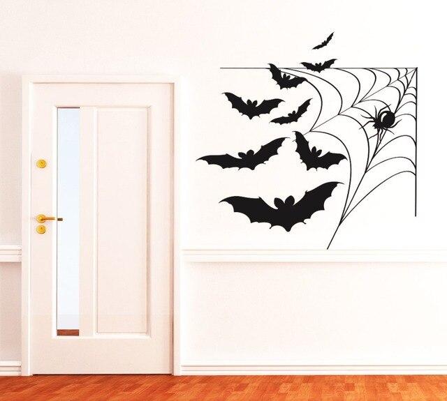 Spider Web With Bats Cool Vinyl Wallpaper Waterproof Wall Mural Hy Home Bedroom Special Decor Art Decals Q 42