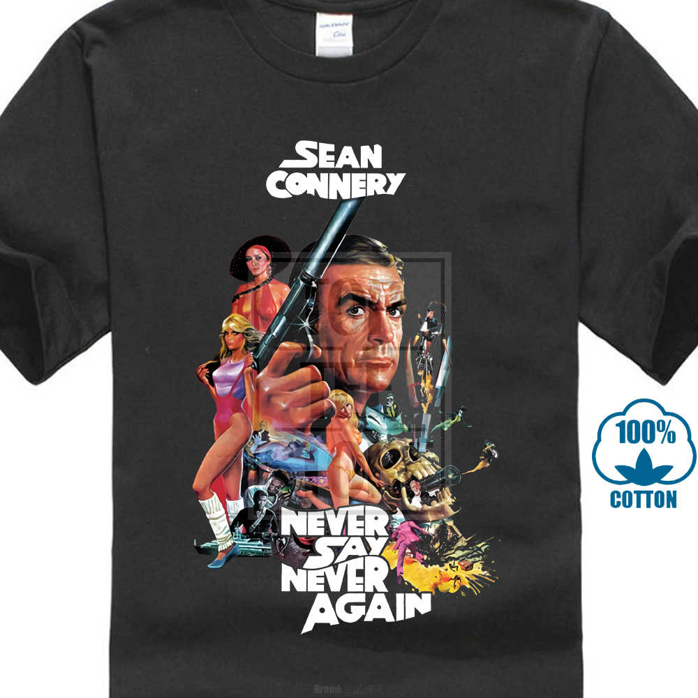 ceef6d343 Never Say Never Again V2 James Bond T Shirt White Zink All Sizes S To 4Xl