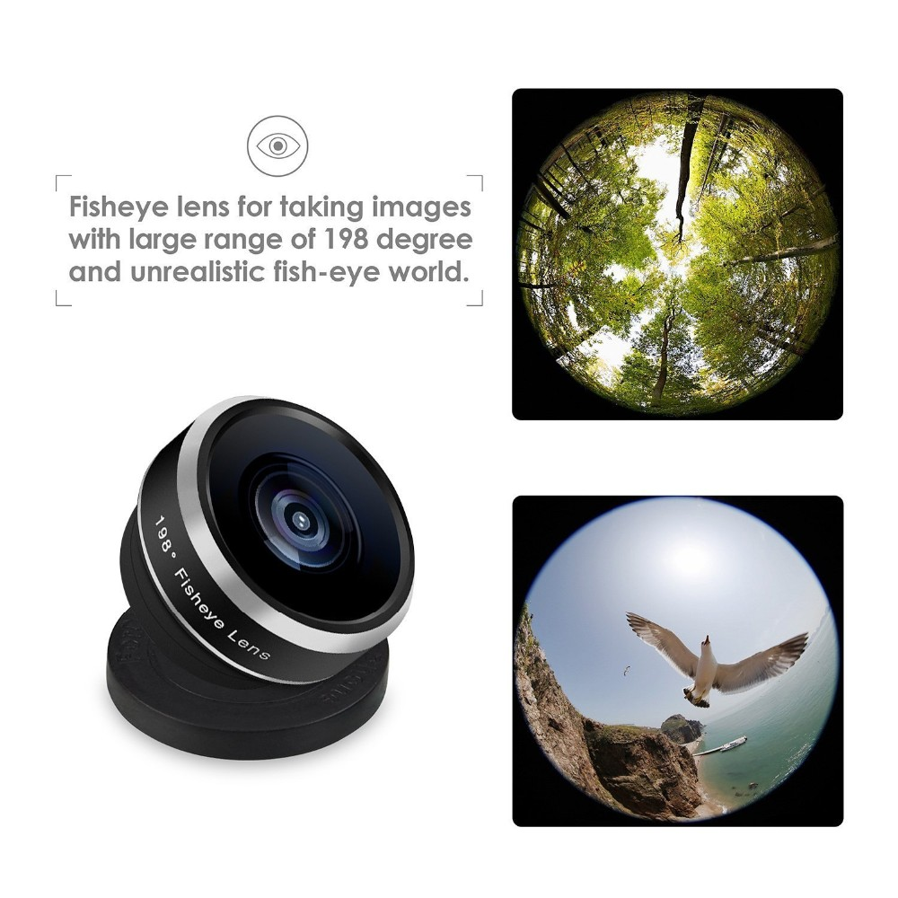 APEXEL Fish Eye+ Wide Angle+Macro+CPL filter camera Lens Kit for iPhone 7/7plus/6S Plus Samsung XiaomiRedMi HTC Phones 5in1 6