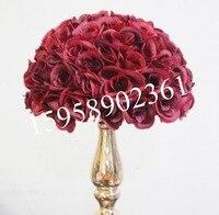 SPR 30 см темно красный пластиковый внутренний Свадебный целующийся шар, 12 шт./лот/партия = 24 шт. половинный шар, вариант цвета, вариант размер