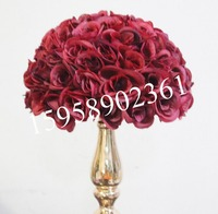 SPR 30cm DARK RED plastic inner wedding kissing ball,12pcs/lot=24pcs half ball,option color,option size