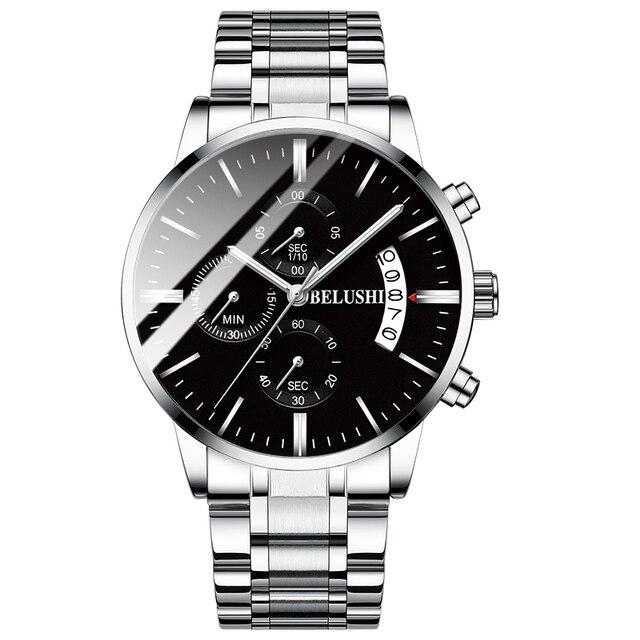Men's watch luxury brand BELUSHI high-end man business casual watches male waterproof sports quartz wristwatch relogio masculino 3