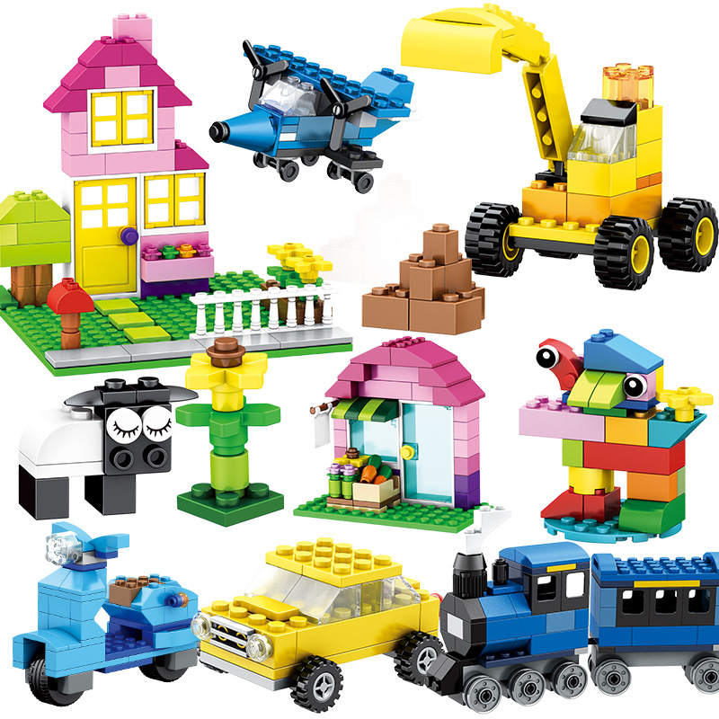 304 562 1052pcs Particles DIY Building Blocks Boys Girls Primary School Children 39 s Plastic Assembled Toys in Blocks from Toys amp Hobbies