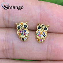 Stud Earrings, Women Fashion Jewelry, Owl Design, The Rainbow Series, Top Quality Plated,Can Wholesale.10pairs