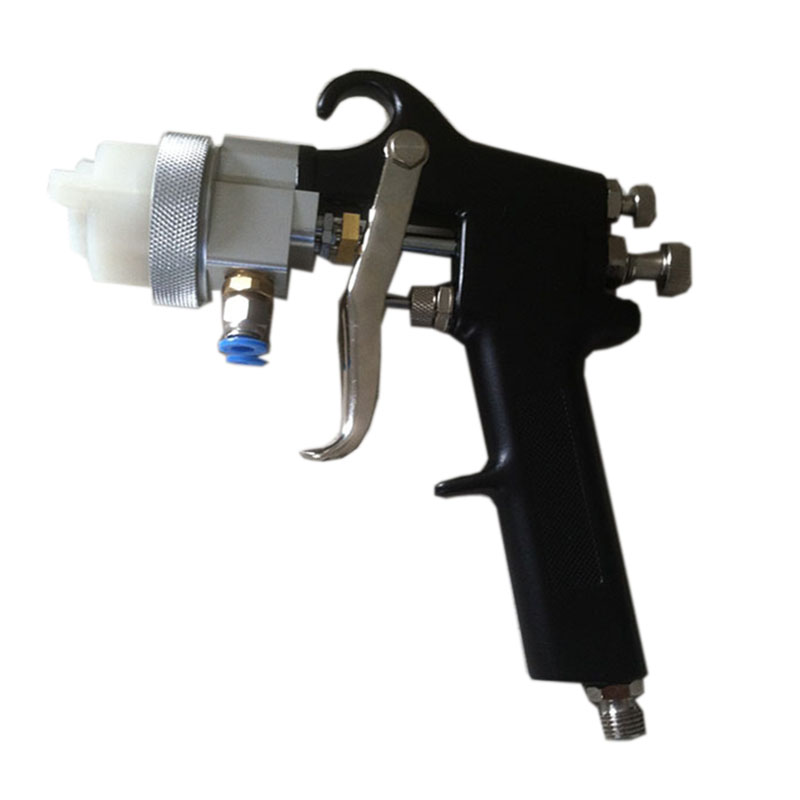 SAT1182 Hot On Sales 95 Chrome Plate Paint Gun Dual Nozzle Spray Gun HVLP 1.3