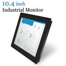 10.4 Clip On Cassa di Metallo Industriale Monitor Del Computer USB Touch Screen Monitor
